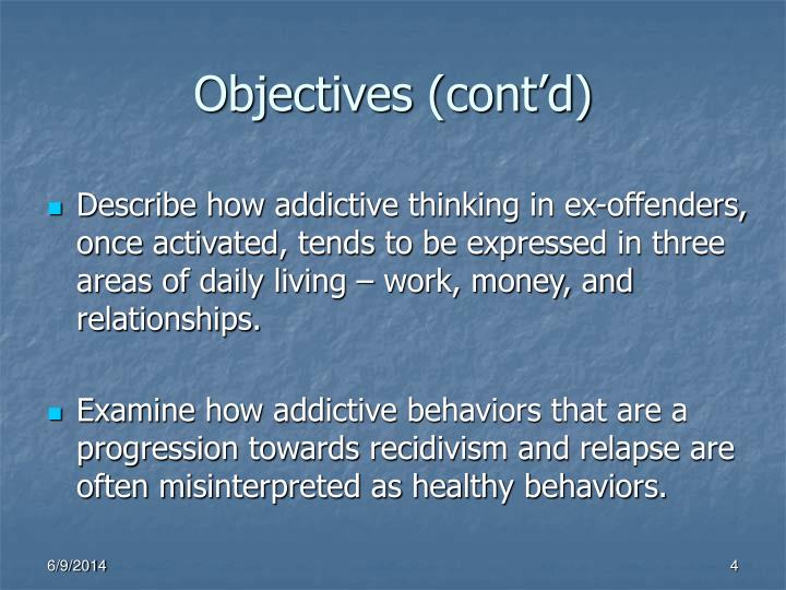 Objectives (cont'd)