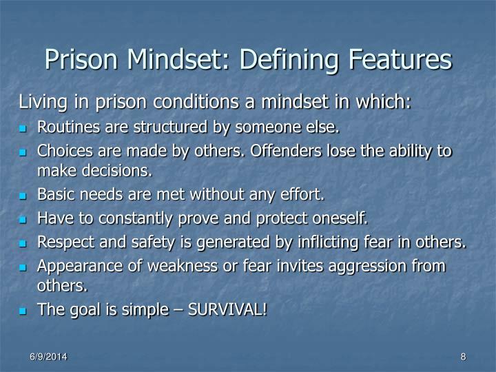 Prison Mindset: Defining Features