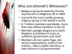 who are jehovah s witnesses