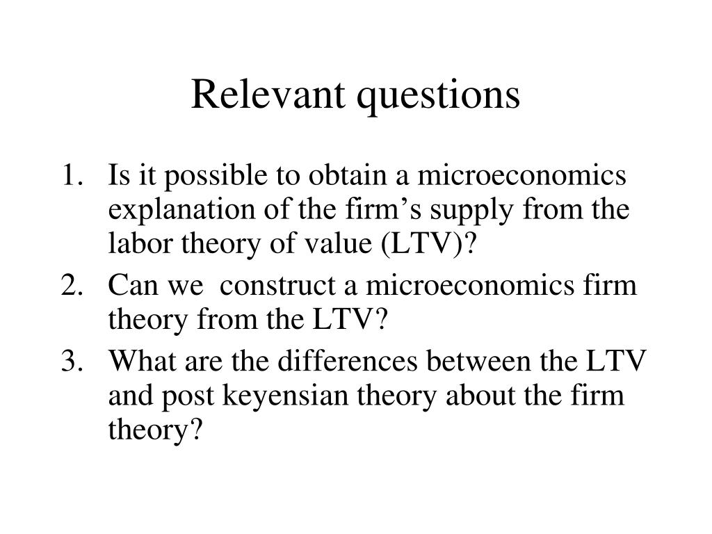 the labour theory of value economics essay Why are theories of value important by lindy davies modern-day mainstream economics has little to say about it one of today's most influential textbooks this gets us back to the question of why value theory is important.