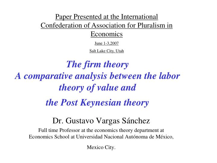 comparative analysis of the theories on