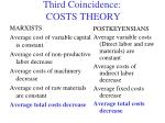 third coincidence costs theory