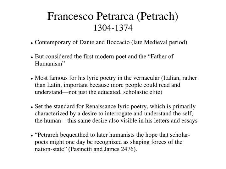 francesco petrarch famous works