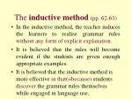 the inductive method pp 62 63