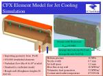 cfx element model for jet cooling simulation