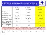 cfx fluid thermal parametric study