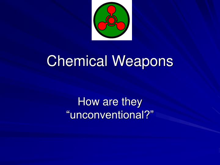 chemical weapons n.