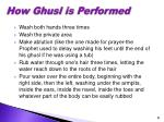 how ghusl is performed