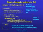 basic delegate pattern in c