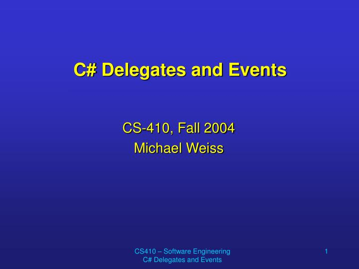 c delegates and events n.