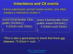 inheritance and c events