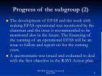 progress of the subgroup 2