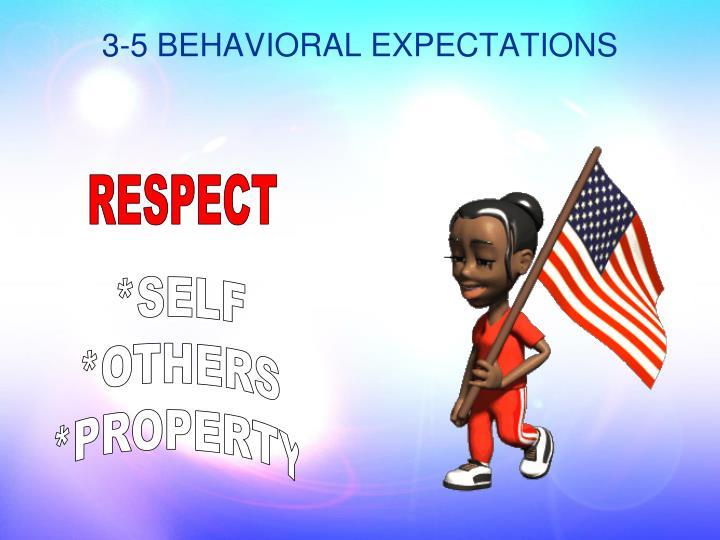 3-5 BEHAVIORAL EXPECTATIONS