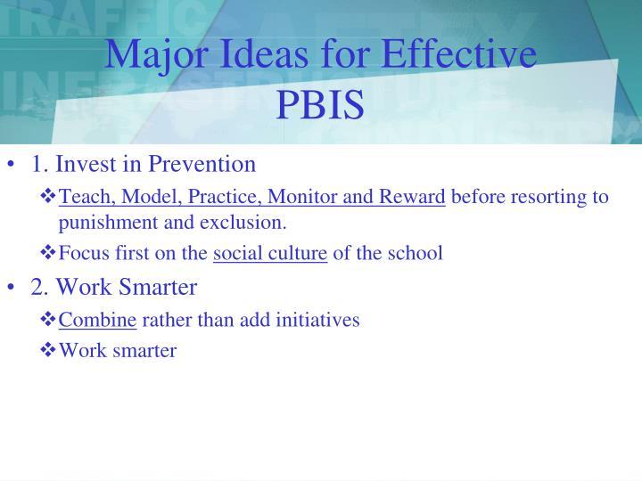 Major Ideas for Effective