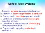 school wide systems