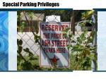 special parking privileges