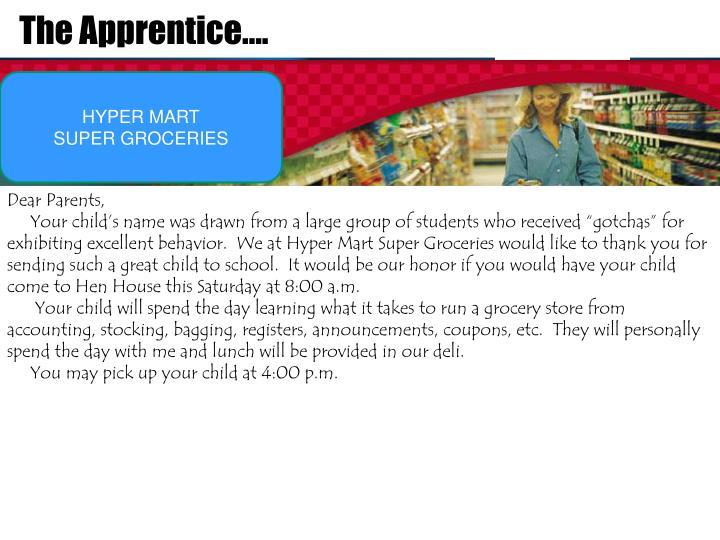 The Apprentice….