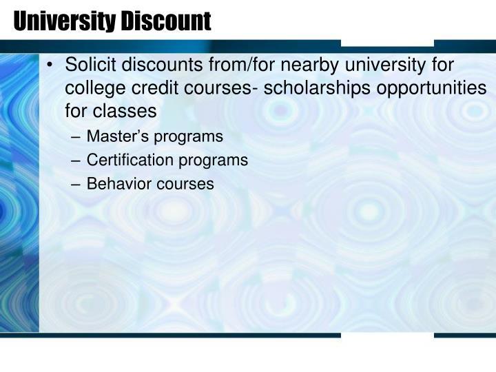 University Discount