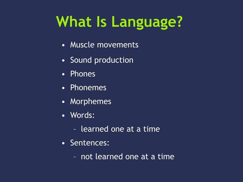 what is language l.