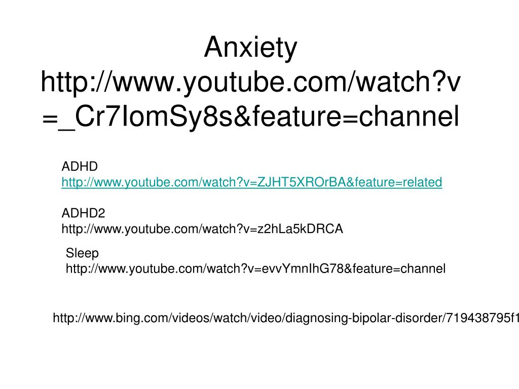 anxiety http www youtube com watch v cr7iomsy8s feature channel l.