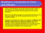 buddhism s introduction to china and diffusion