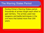 the warring states period