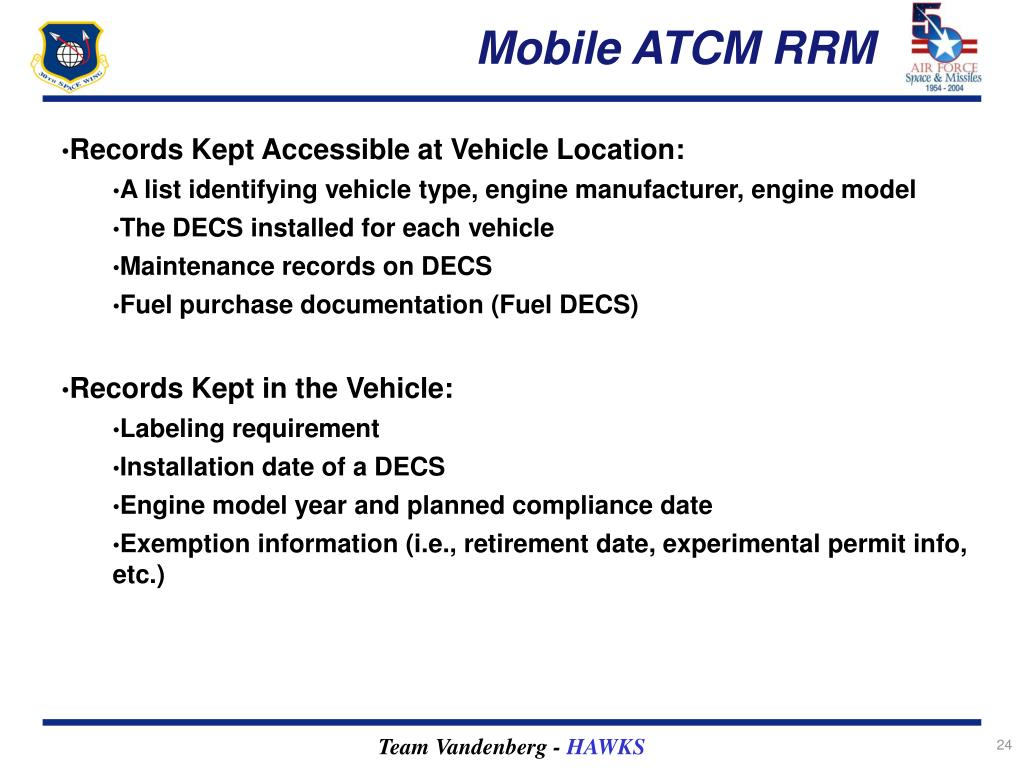 Mobile ATCM RRM