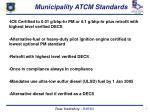 municipality atcm standards
