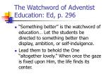 the watchword of adventist education ed p 296