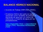 balance h drico nacional