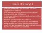 lessons of history 1