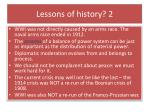 lessons of history 2