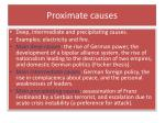 proximate causes