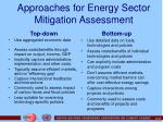 approaches for energy sector mitigation assessment