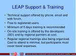 leap support training