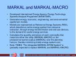 markal and markal macro