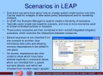 scenarios in leap
