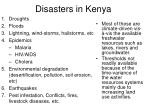 disasters in kenya
