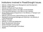 institutions involved in flood drought issues