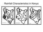 rainfall characteristics in kenya