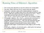 running time of dijkstra s algorithm