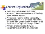conflict regulations