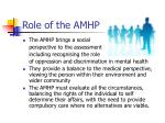 role of the amhp