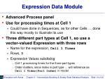 expression data module