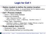 logic for cell 1
