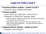 logic for cells 2 and 4