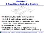 model 6 2 a small manufacturing system