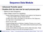 sequence data module