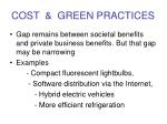 cost green practices