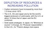 depletion of resources increasing pollution9